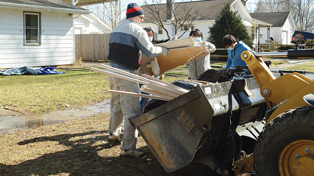 flood water debris and garbage removal