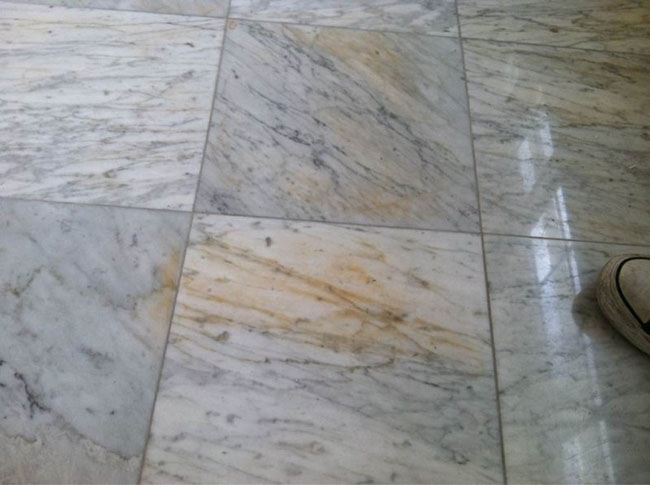 marble floor stain types