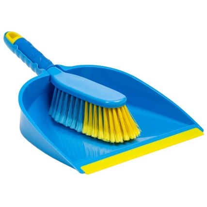 cleaning vomit with a dustpan