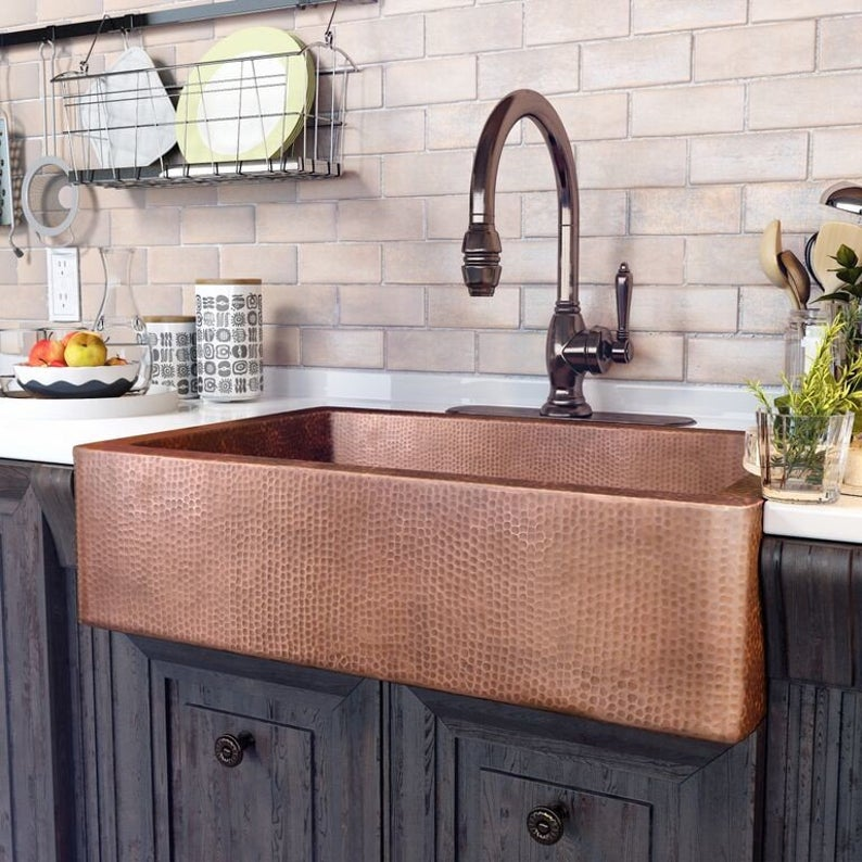 antimicrobial copper kitchen sink