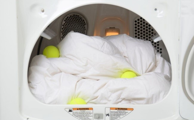 how to dry pillows with tennis balls in dryer