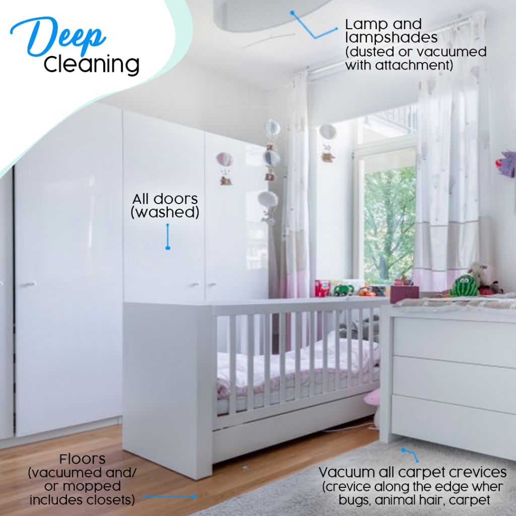 bedroom deep cleaning checklist