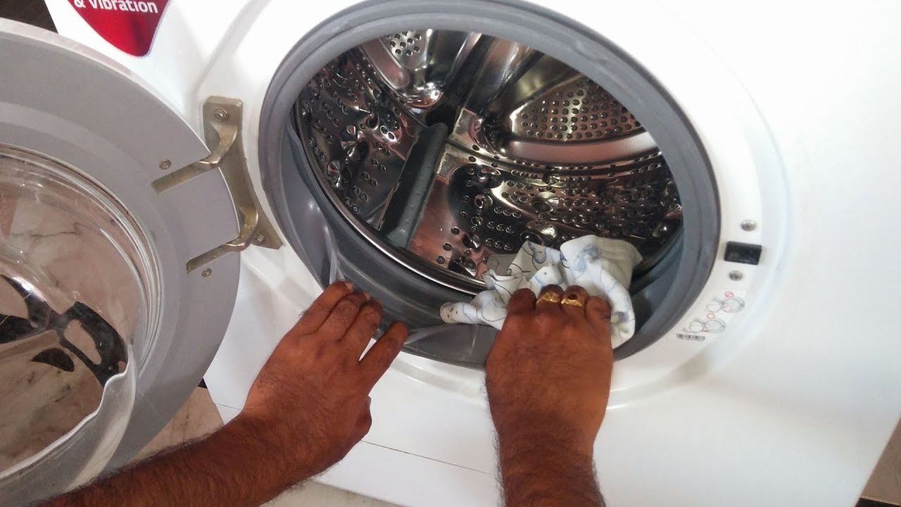 how to clean washing machine rubber door seal gasket