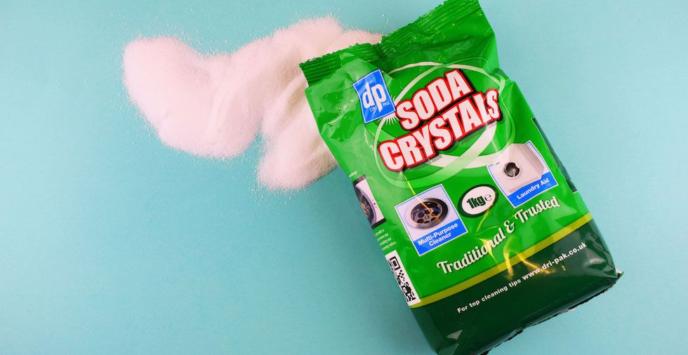 how to clean a washing machine with soda crystals