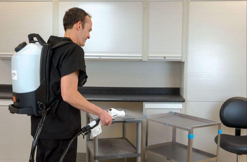 electrostatic backpack system sprayer machine