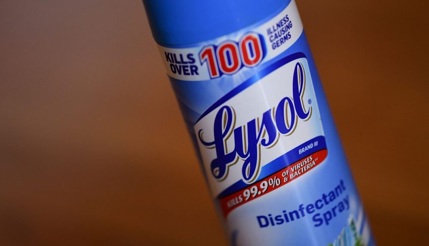Lysol effectiveness for COVID-19