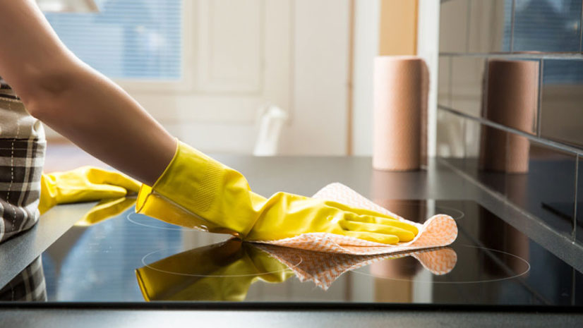 how to clean glass-top stove