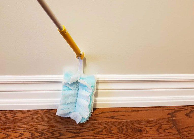swiffer baseboard cleaning