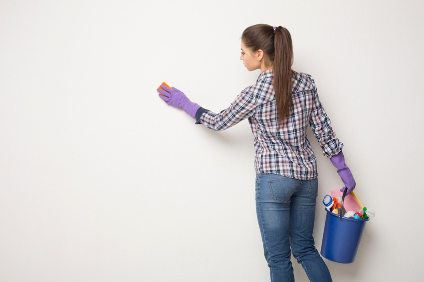 how to clean walls fast
