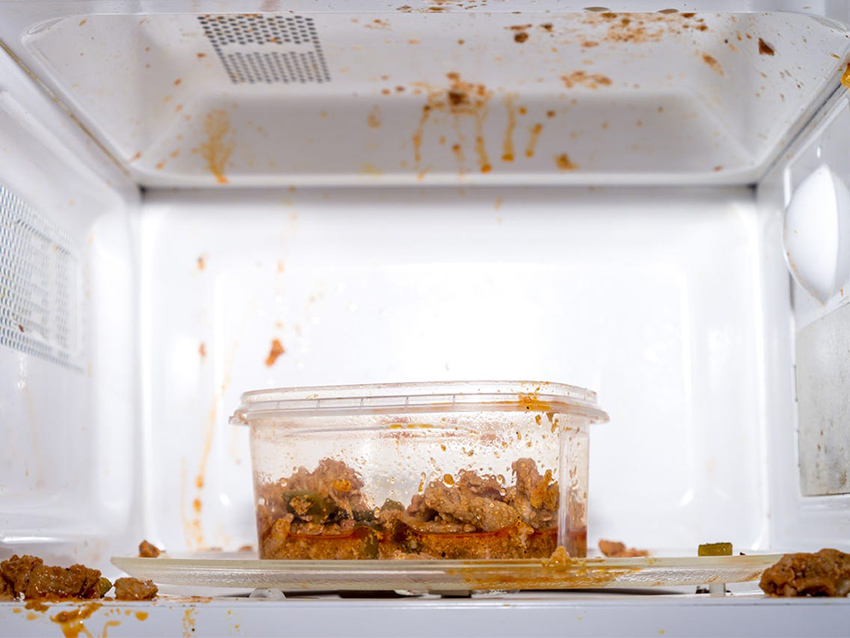 how to clean dirty and smelly microwave