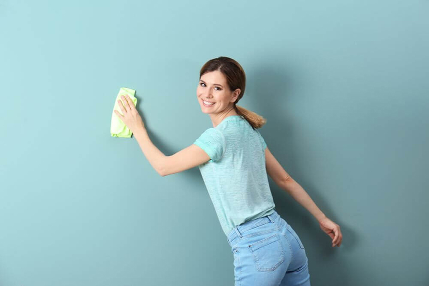 how to clean apartment walls