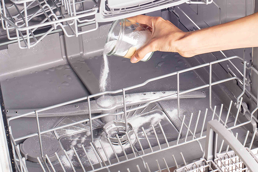 cleaning a dishwasher without vinegar