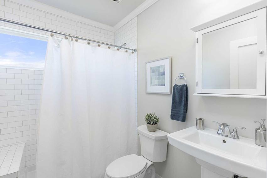 plastic shower curtain washing