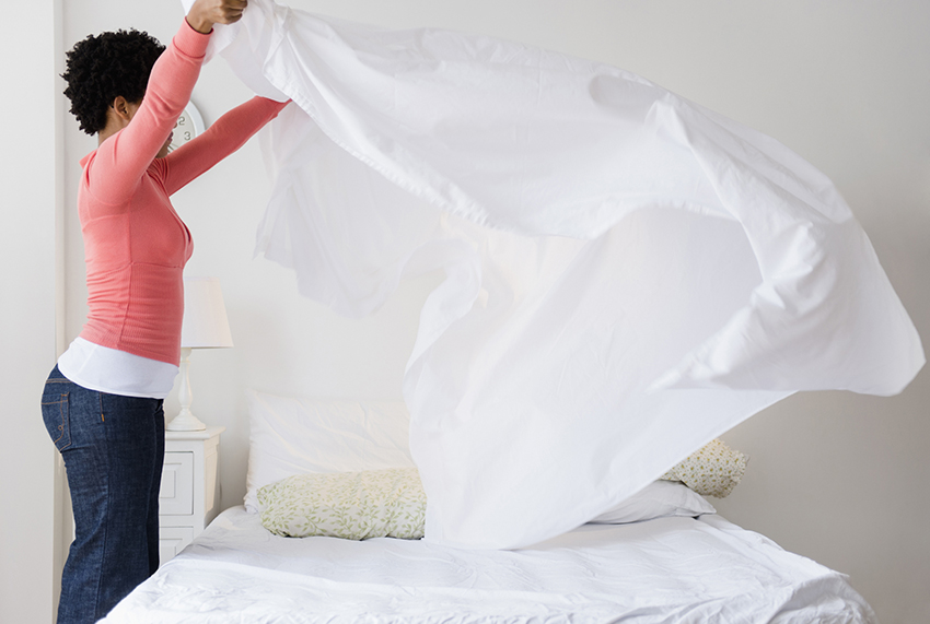 How to remove chocolate stains from bed sheets