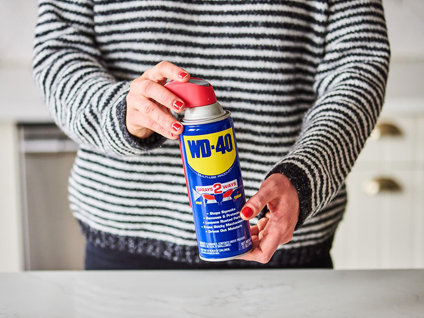removing sticker residue with WD-40